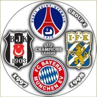 Pin Champions League 1997-1998 Group E Paris Saint-Germain Bayern Munchen Besiktas IFK Goteborg - Fútbol