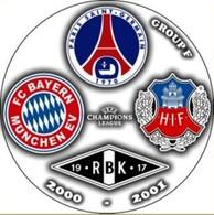 Pin Champions League 2000-2001 Group F Paris Saint-Germain Bayern Munchen Rosenborg Helsingborgs - Fútbol