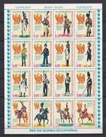 Equatorial Guinea, Napoleon Army, Military Uniform, Sheet,  MNH** - Equatorial Guinea
