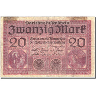 Billet, Allemagne, 20 Mark, 1918, 1918-02-20, KM:57, TB - [ 2] 1871-1918 : Empire Allemand