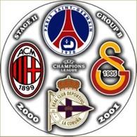 Pin Champions League 2000-2001 Group B Paris Saint-Germain Milan Galatasaray Deportivo La Coruna - Fussball