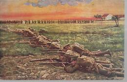 Carte Publicitaire , Quinquina DUBONNET, L'infanterie Anglaise En Action  CPA 1917 - Guerre 1914-18
