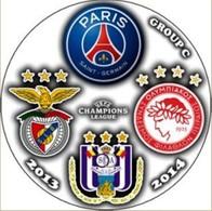 Pin Champions League 2013-2014 Group F Paris Saint-Germain Benfica Lisboa Anderlecht Olympiakos Piraeus - Fútbol