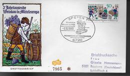 ALLEMAGNE  FDC Speyer  1980 Activites Vinicoles Vin Raisin - Vins & Alcools