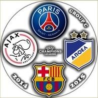 Pin Champions League 2014-2015 Group F Paris Saint-Germain Barcelona Ajax Amsterdam APOEL - Calcio