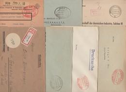 Allemagne 1945-1947. 15 Lettres Gebühr Bezahlt. Absence De Timbres. Passau Meerane Zeitz Lahr Arolsen Murg Werdau ... - Zone Soviétique