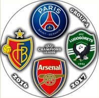 Pin Champions League 2016-2017 Group F Paris Saint-Germain Arsenal London Basel Ludogorets - Fútbol