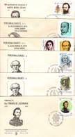 Argentina FDC Fray Beltran, N Avellaneda, I Gandhi, Alicia De Justo, E Ravignani, Martin M Guemes, General De Luzuriaga - FDC