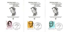 Argentina FDC Personalità Celebri Indira Gandhi, Alicia Moreau De Justo, Emilio Ravignani - FDC