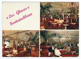 77 - SEINE ET MARNE - FONTAINEBLEAU - BRASSERIE LES GLACES RUE GRANDE CAFE PLACE CARNOT - Fontainebleau
