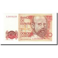 Billet, Espagne, 200 Pesetas, 1980-09-16, KM:156, NEUF - [ 4] 1975-… : Juan Carlos I