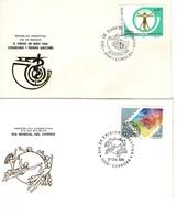 Argentina FDC Giornata Mondiale Della Posta E Posta Mezzo Di Comunicazione - FDC