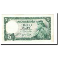 Billet, Espagne, 5 Pesetas, 1954-07-22, KM:146a, SPL - [ 3] 1936-1975 : Régence De Franco