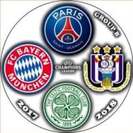 Pin Champions League 2017-2018 Group B Paris Saint-Germain Bayern Munchen Celtic Glasgow Anderlecht - Calcio