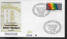 ALLEMAGNE  FDC  1979  Prix Nobel  Physique Albert Einstein - Albert Einstein