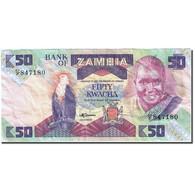 Billet, Zambie, 50 Kwacha, 1980-1986, Undated (1986-1988), KM:28a, TTB - Zambie