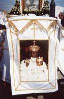 Foggia - Santino Fotografia MADRE DI DIO INCORONATA (98x152mm) - PERFETTO P62 - Religione & Esoterismo