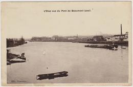 CARTE POSTALE   L'Oise Vue Du Pont De BEAUMONT 95 - Beaumont Sur Oise