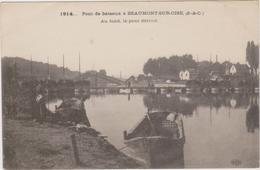 CARTE POSTALE   Pont De Bateaux à BEAUMONT SUR OISE 95 - Beaumont Sur Oise