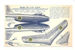 MARABOUT JUNIOR - Avion à Découper SAAB 29 (Suède) = Supplément Au Livre N°18 = Maquette, . (b235) - Other Collections