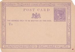 Ceylon Two Cents Mint Post Card - Ceylon (...-1947)