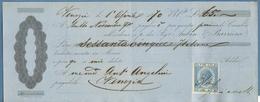CAMBIALE VENEZIA 1870 ITALIANE LIRE 65 CON MARCA DA BOLLO TRANSIZIONE L.0,37 + AUTOGRAFO - Cambiali