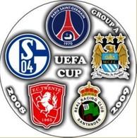 Pin UEFA Cup 2008-2009 Group A Paris Saint-Germain Schalke-04 Gelsenkirchen Twente Real Santander Manchester City - Calcio