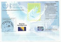Bosnia And Herzegovina International Reply Coupon IRC CN 01 COUPON-RÉPONSE INTERNATIONAL UPU With HOLOGRAM - Bosnia And Herzegovina