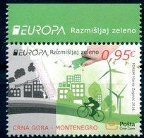 "Europa 2016 ""Think Green"" - Montenegro ** - Europa-CEPT"