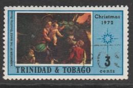 Trinidad & T 1972 Christmas - Paintings 3c Multicoloured SW 242 O Used - Trinidad & Tobago (1962-...)