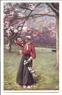 Cherry Blossom - Tuck Oilette 753 - Postcards