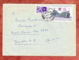 Brief, MiF Landungsschiff U.a., Tallin Nach Bad Neuenahr 1974 (55785) - 1923-1991 UdSSR