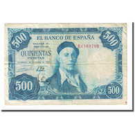 Billet, Espagne, 500 Pesetas, 1954-07-22, KM:148a, TB - [ 3] 1936-1975 : Regency Of Franco