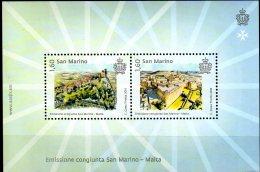 2016 San Marino- Castles Of San Marino And Malta - Joint Issue With Malta  MS MNH** -MiNr. 2683 - 2684 (Block 77) (zz17) - San Marino