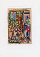Padova - Santino Cartolina ENTRATA IN GERUSALEMME Miniatura XIII Secolo, Biblioteca Capitolare - PERFETTO P62 - Religione & Esoterismo
