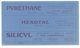 Buvard Publicitaire - Pyréthane, Hexotal, Silicyl Laboratoires Camuset ( Paris) Médecine, Pharmacie, Médicament  (b235) - Produits Pharmaceutiques