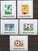 Soccer Football Cote D'Ivoire Ivory Coast Luxes 552/6 1978 World Cup Argentina MNH ** - Coupe Du Monde