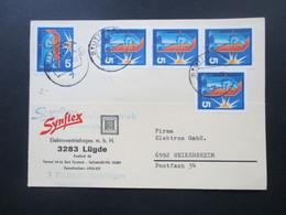 BRD 1971 Nr. 629 MeF Mit 5 Marken! Firmenpostkarte Synflex Elektrovertrieb 3283 Lugde - BRD
