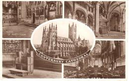 POSTAL    CANTERBURY  -INGLATERRA  -VISTAS VARIAS DE LA CATEDRAL - Canterbury