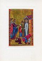 Londra - Santino Cartolina RESURREZIONE DI LAZZARO Miniatura XII Secolo, British Museum - PERFETTO P62 - Religione & Esoterismo