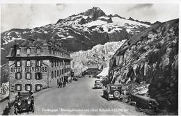 FURKASTRASSE BEIM RHONEGLETSCHER  → Viele Oldtimer Beim Belvedere Anno 1932 - VS Valais