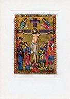 Londra - Santino Cartolina CROCIFISSIONE Miniatura XII Secolo, British Museum - PERFETTO P62 - Religione & Esoterismo