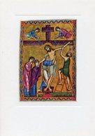 Londra - Santino Cartolina DEPOSIZIONE DALLA CROCE Miniatura XII Secolo, British Museum - PERFETTO P62 - Religione & Esoterismo