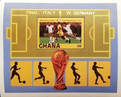 Ghana 1982 World Football Championship Winner Italy 3-1 S/S - Ghana (1957-...)