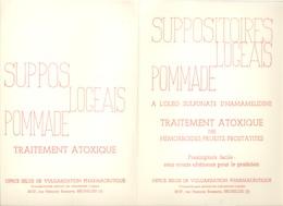 Buvard Publicitaire - Suppositoires, Pommade Logeais ( Bruxelles) Médecine, Pharmacie, Médicament  (b235) - Produits Pharmaceutiques
