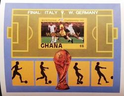 Ghana 1982 World Football Championship Winner Italy 3-1 S/S Imperf. - Ghana (1957-...)
