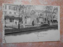 84/ VAUCLUSE / PERTUIS Les Greniers - Devanture Grand Café Thomas (voyagée 1903) - Pertuis