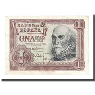 Billet, Espagne, 1 Peseta, 1953-07-22, KM:144a, SUP - [ 3] 1936-1975 : Régence De Franco