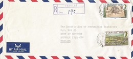 Mauritius 1987 Triolet Race Course R2 1987 Imprint Royal Visit R5 1985 Imprint Registered Cover - Mauritius (1968-...)