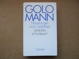 Erinnerungen Und Gedanken, Lehrjahre In Frankreich (Golo Mann) éditions S. Fischer De 1999 - Livres, BD, Revues